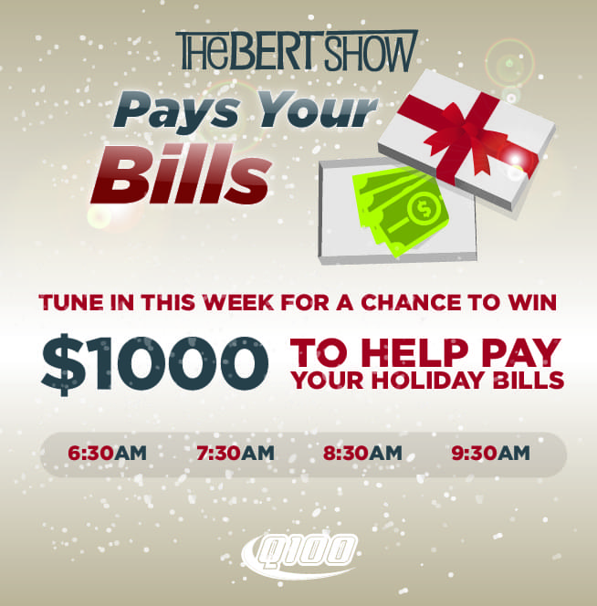 The Bert Show Pays Your Holiday Bills