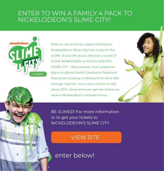Win a family 4 Pack to Nickelodeon's Slime City! | Q99 7 | WWWQ-FM
