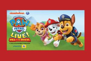 Register to win tickets to see Paw Patrol Live!