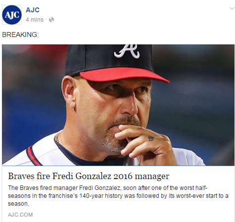 Braves Fire Gonzalez As Manager