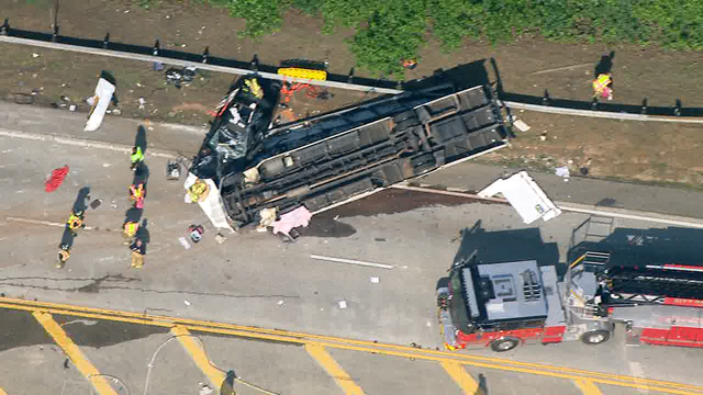 1 dead, dozens injured after church bus carrying students overturns near Atlanta