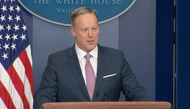 WATCH: Spicer Holds First Press Briefing