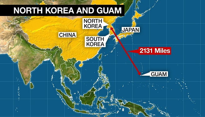 North Korea Says Its Next Missile Target Will Be Guam ...