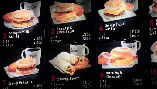 Obamacare-Era Restaurant Calories Count Law To Take Effect