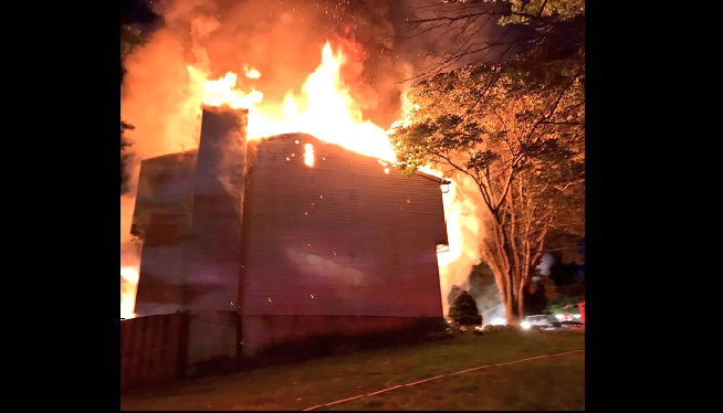 Firefighters: Person Jumps From 2nd-Floor Of Burning Home