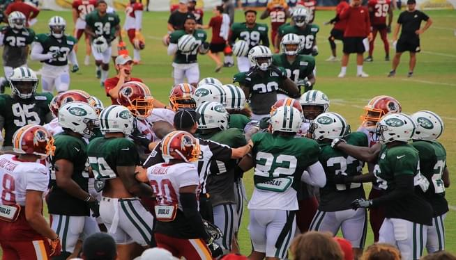 Fights Erupt At Redskins Training Camp With New York Jets