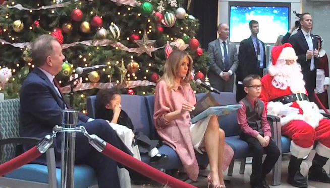 WATCH: First Lady Melania Trump Visits Children's National