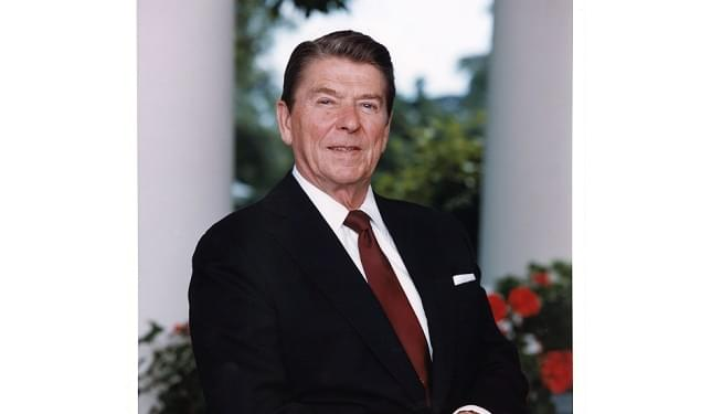 President Reagan Outside Oval Office, June 6, 1983