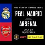 Win Tickets To See Real Madrid vs Arsenal!