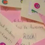 Girl's random of act of kindness brings smiles to students, faculty