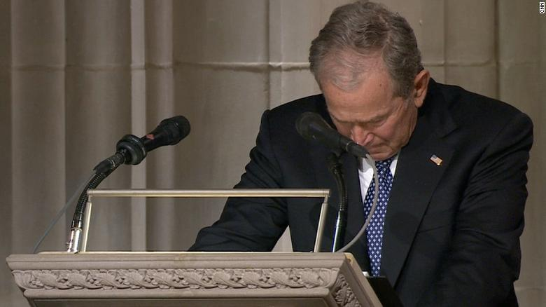George W. Bush gives a wonderful eulogy at the National Cathedral