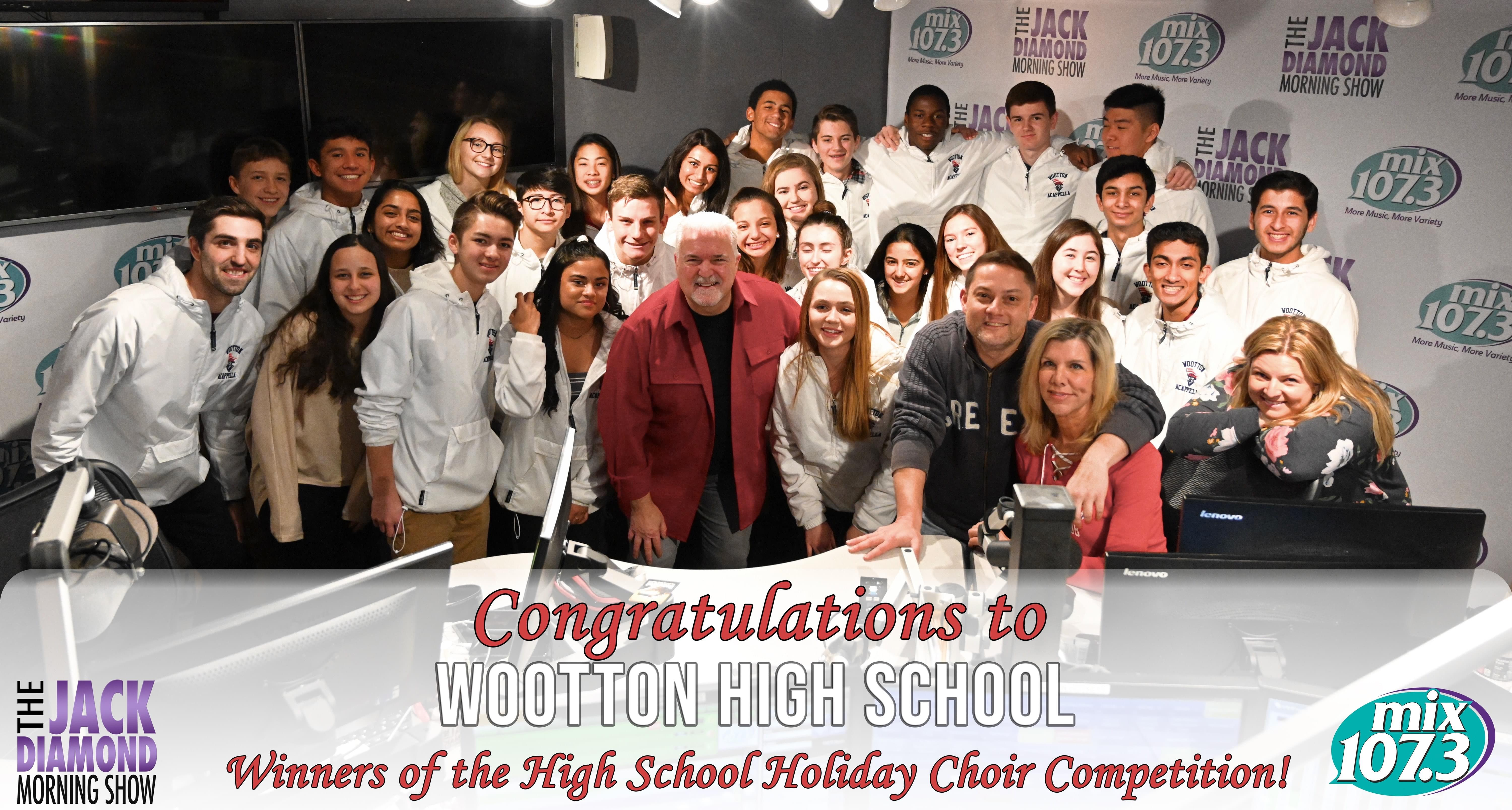 The Jack Diamond Morning Show 2018 Holiday Choir High School Winners – The Wootton High School Choir – Achatonics!
