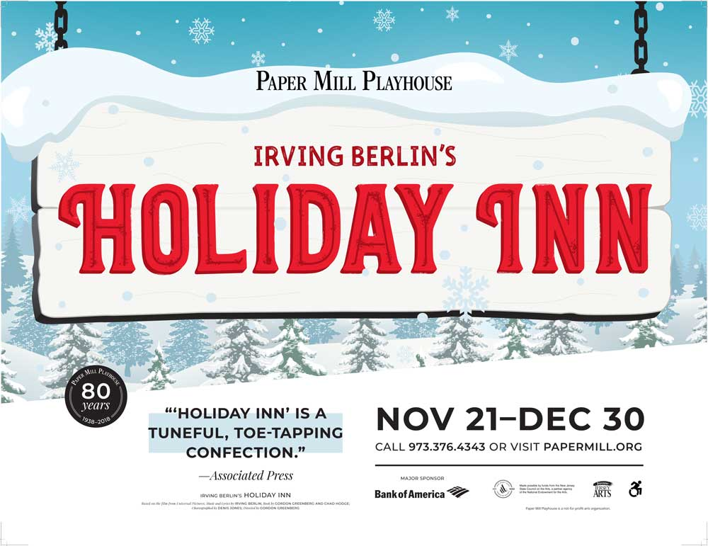 Win Tickets to See Irving Berlin's Holiday Inn at Paper Mill Playhouse!