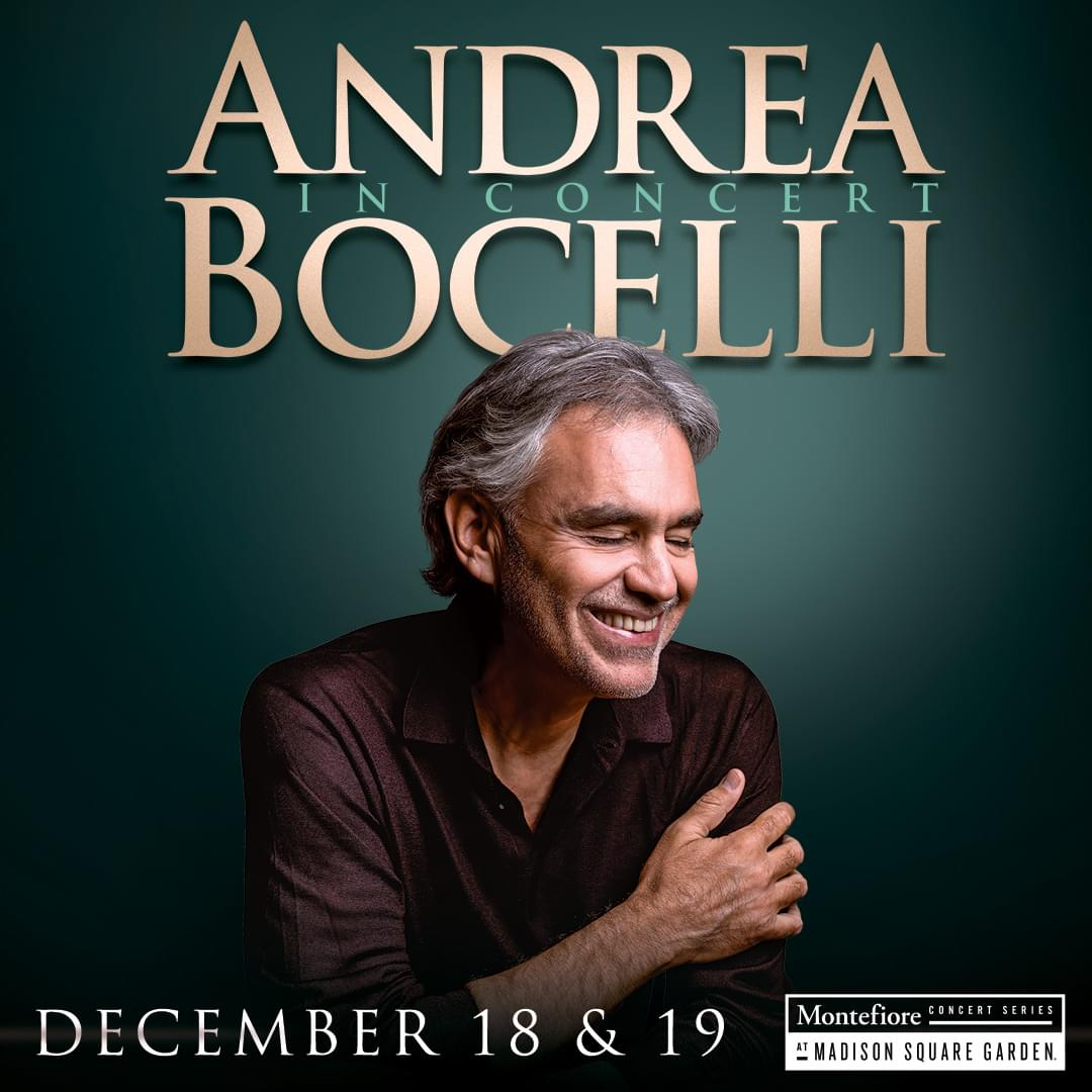 See Andrea Bocelli at Madison Square Garden!