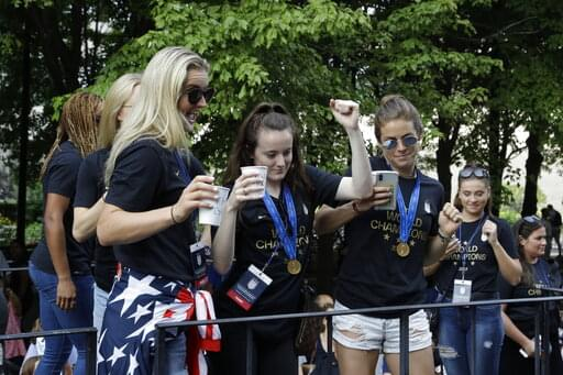 U.S. Women's Soccer Celebrates World Cup Championship