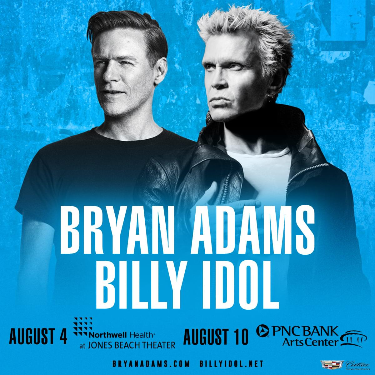 Win Tickets to See Bryan Adams and Billy Idol!