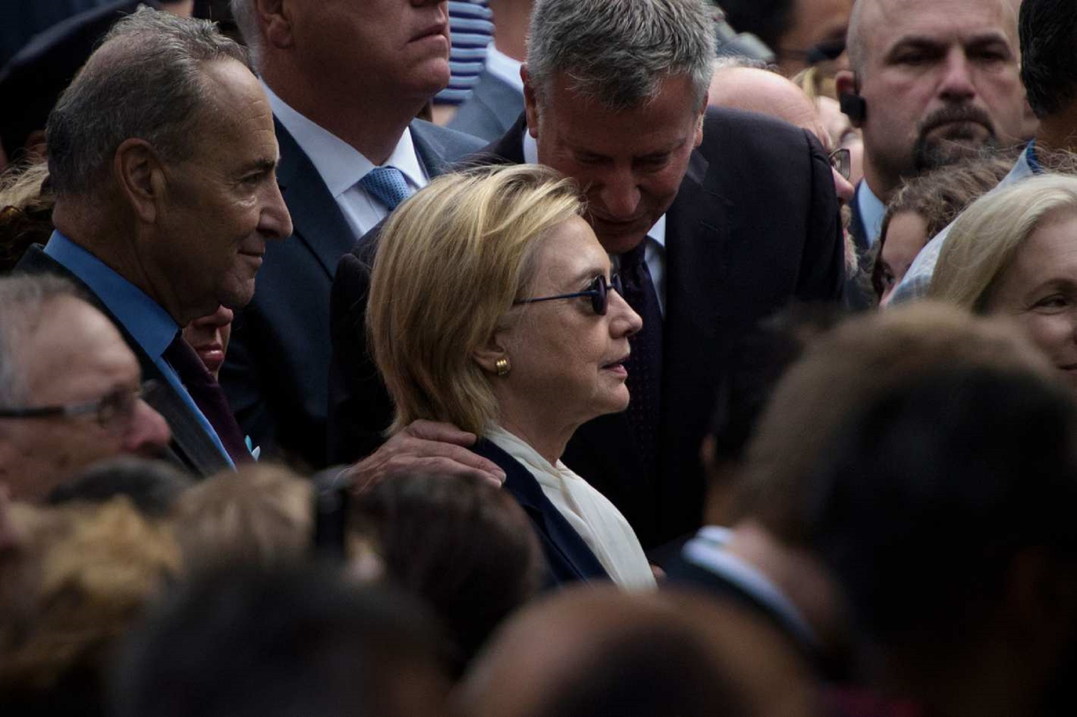 Hillary Clinton Leaves 9/11 Event Early; Has Pneumonia