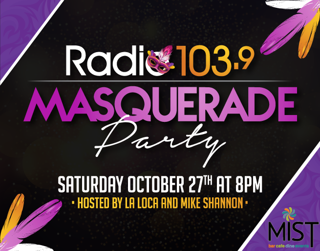 GET TICKETS: Radio 103.9 Masquerade Party Live at MIST Harlem