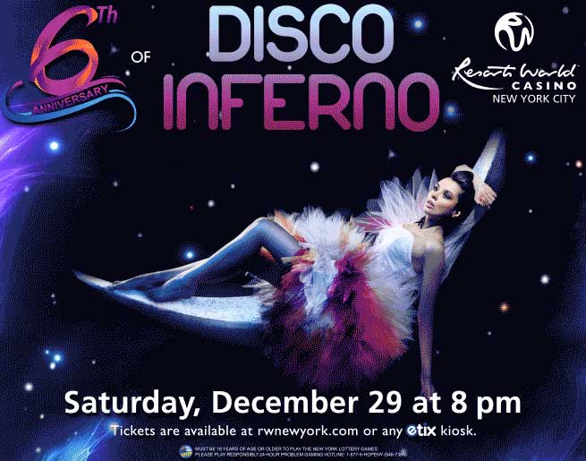 Win Tickets to Disco Inferno at Resorts World Casino!