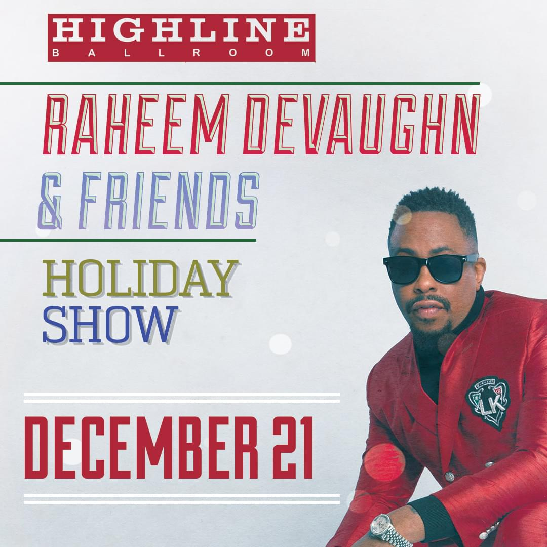 Win Tickets for the 2nd Annual Reheem Devaughn & Friends Holiday Charity Concert!