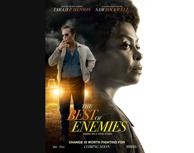 Win a Pair of Passes to an Advanced Screening of THE BEST OF ENEMIES!