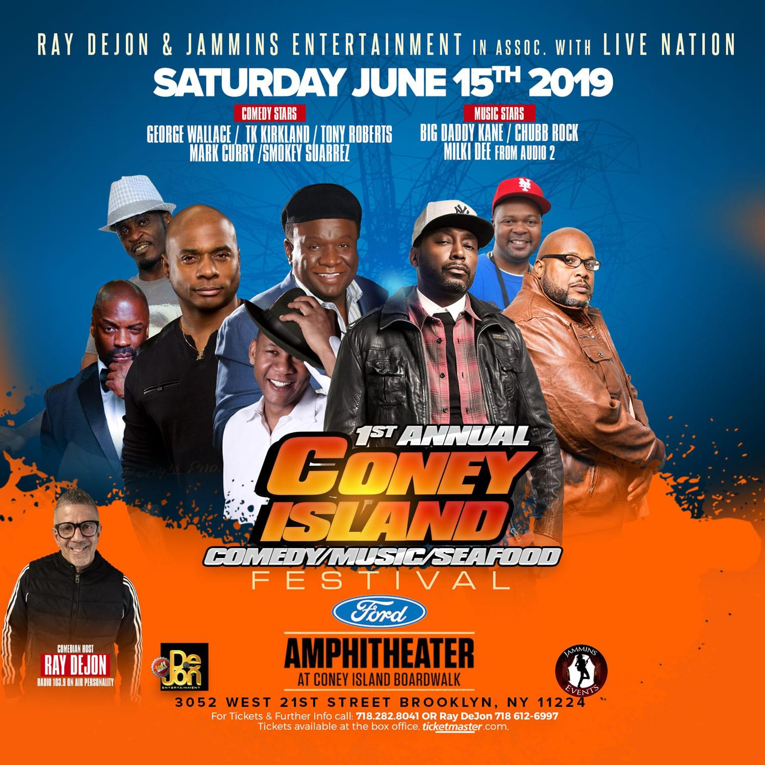 Win Tickets to The 1st Annual Coney Island Comedy, Music and Seafood Festival!