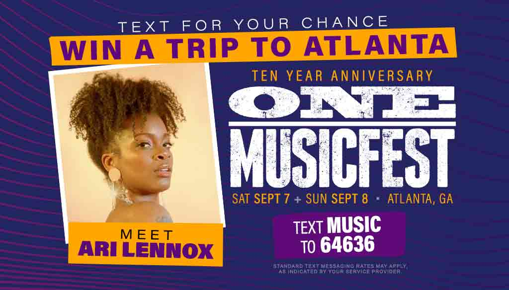 Meet Ari Lennox at ONE MUSICFEST in Atlanta