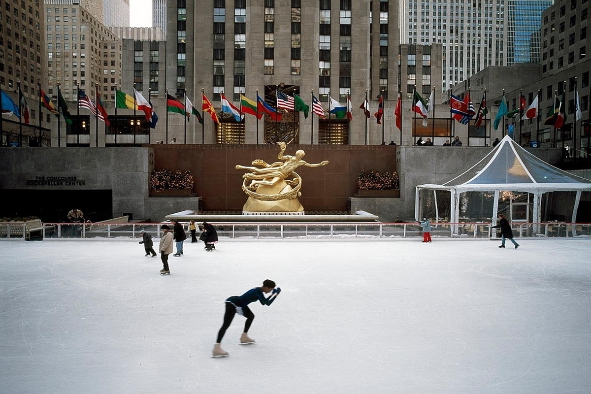 olympic skaters officially open the rockefeller center ice rink