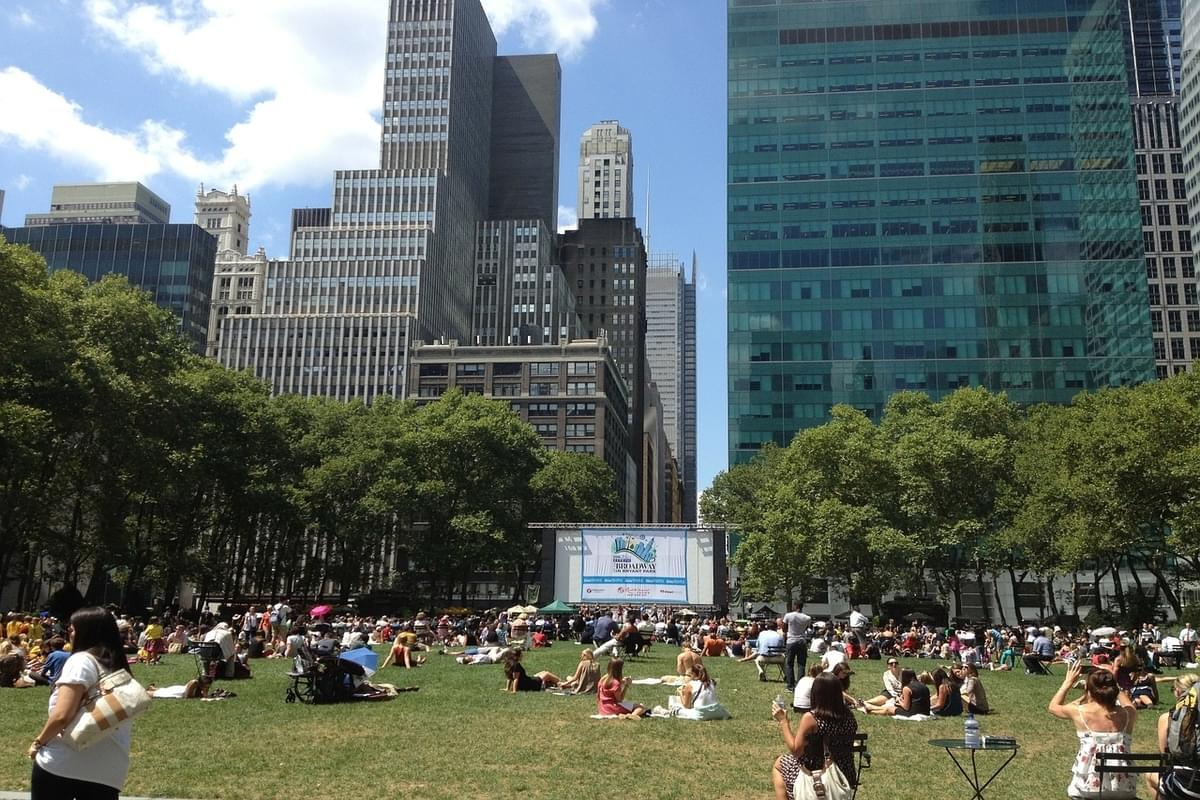 Bryant Park Yoga led by Dan Nevins from Wounded Warrior Project