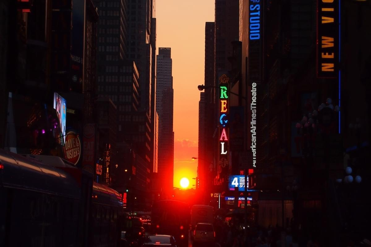 Manhattanhenge Sunset Viewable July 12th & 13th