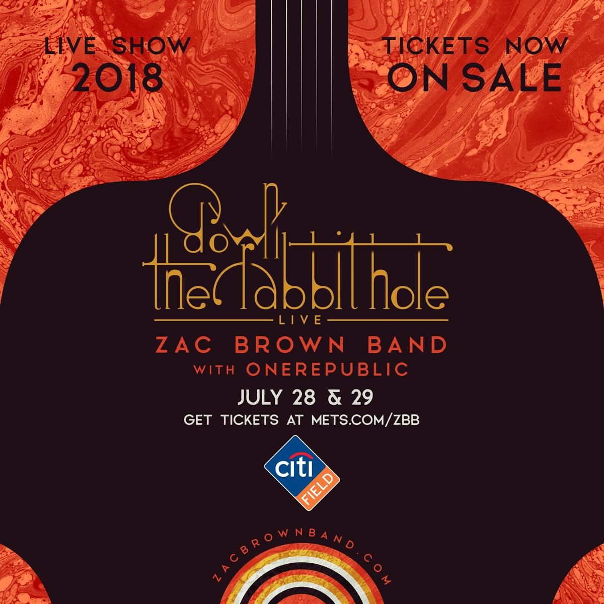 Win Tickets to 'Down The Rabbit Hole Live: Zac Brown Band 2018'
