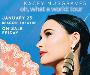Win Tickets to See Kacey Musgraves at the Beacon Theatre!