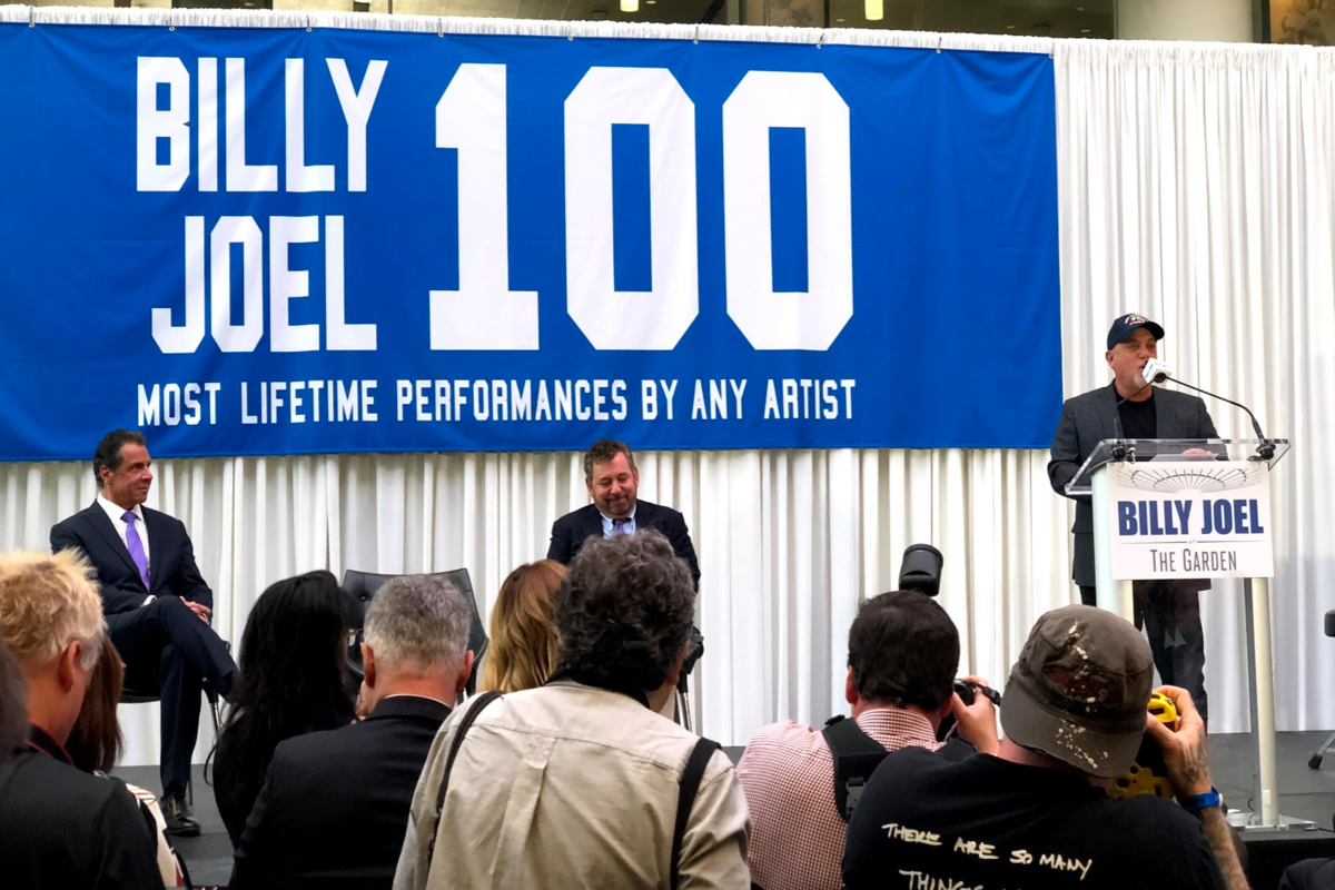 Bruce Springsteen surprises Billy Joel on stage for 100th MSG performance