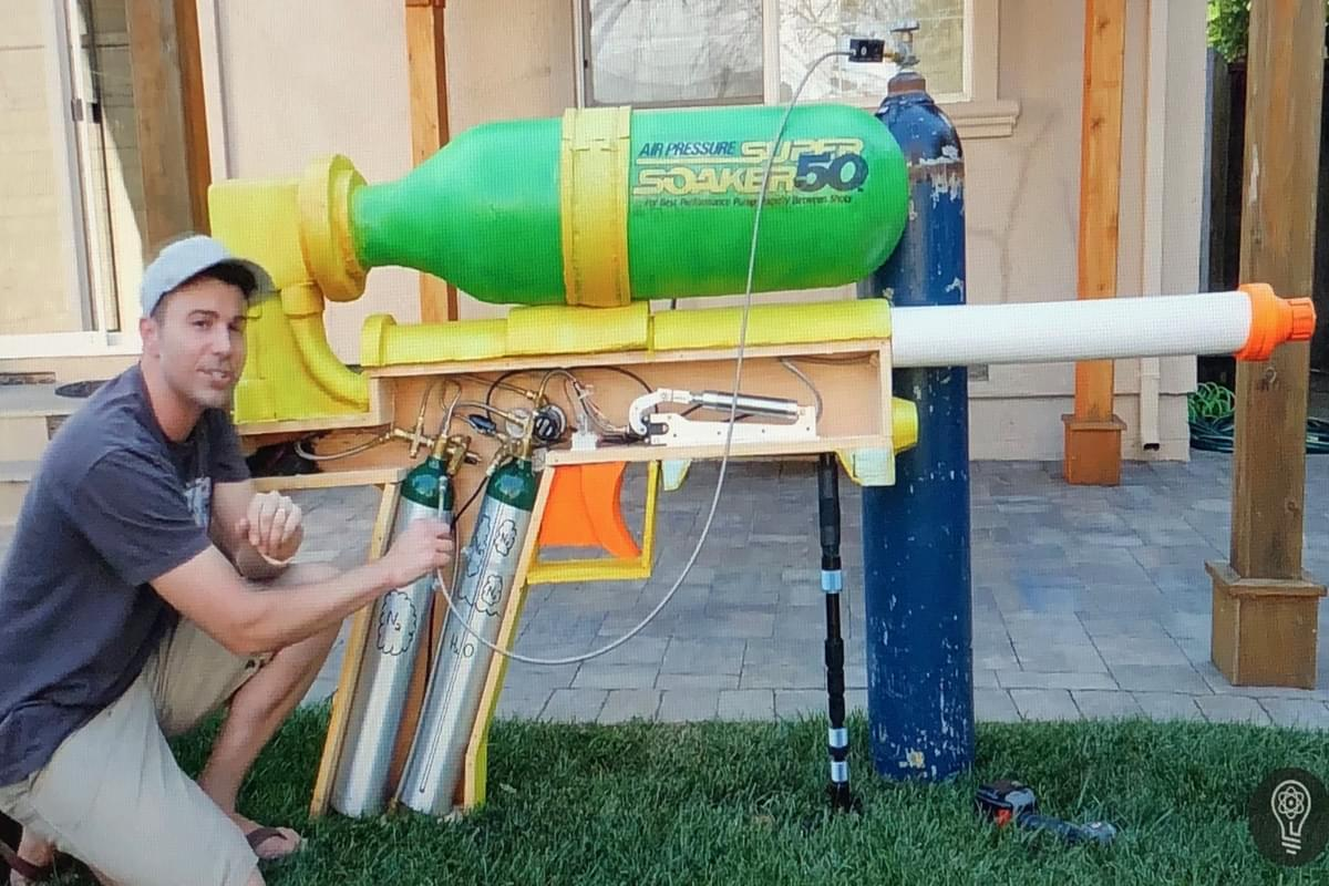 NASA Engineer Creates World's Largest Super Soaker