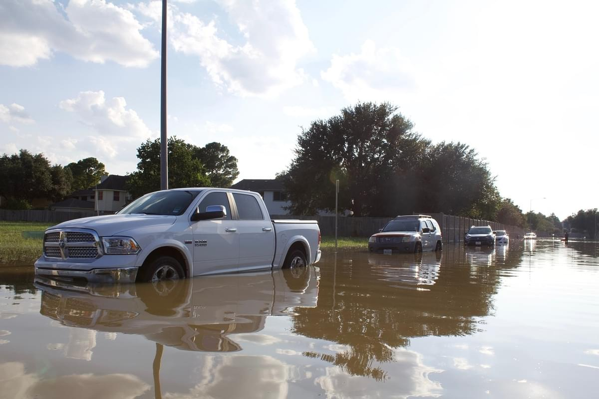 Flood Waters Wash Away Cars From NJ Dealership Lot