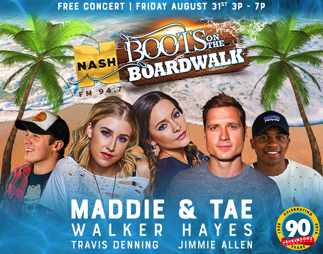 NASH FM 94.7's Boots on the Boardwalk! [Exclusive Video]