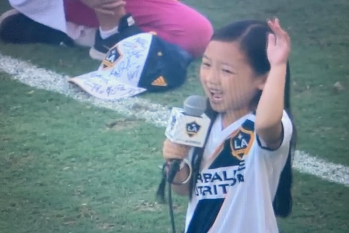 7 Year Old Girl Steals the Show with Stunning National Anthem Performance