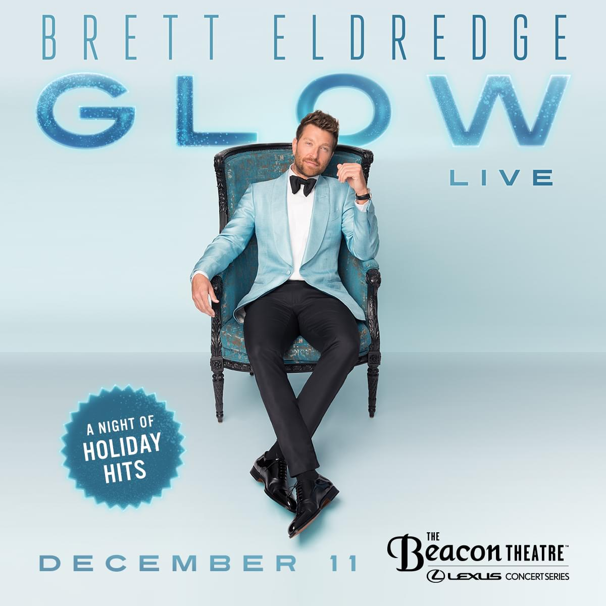 Win Tickets to Brett Eldredge's Glow Live: A Night of Holiday Hits!