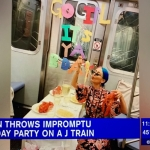 Woman Throws All Out Birthday Party on Subway (WATCH)