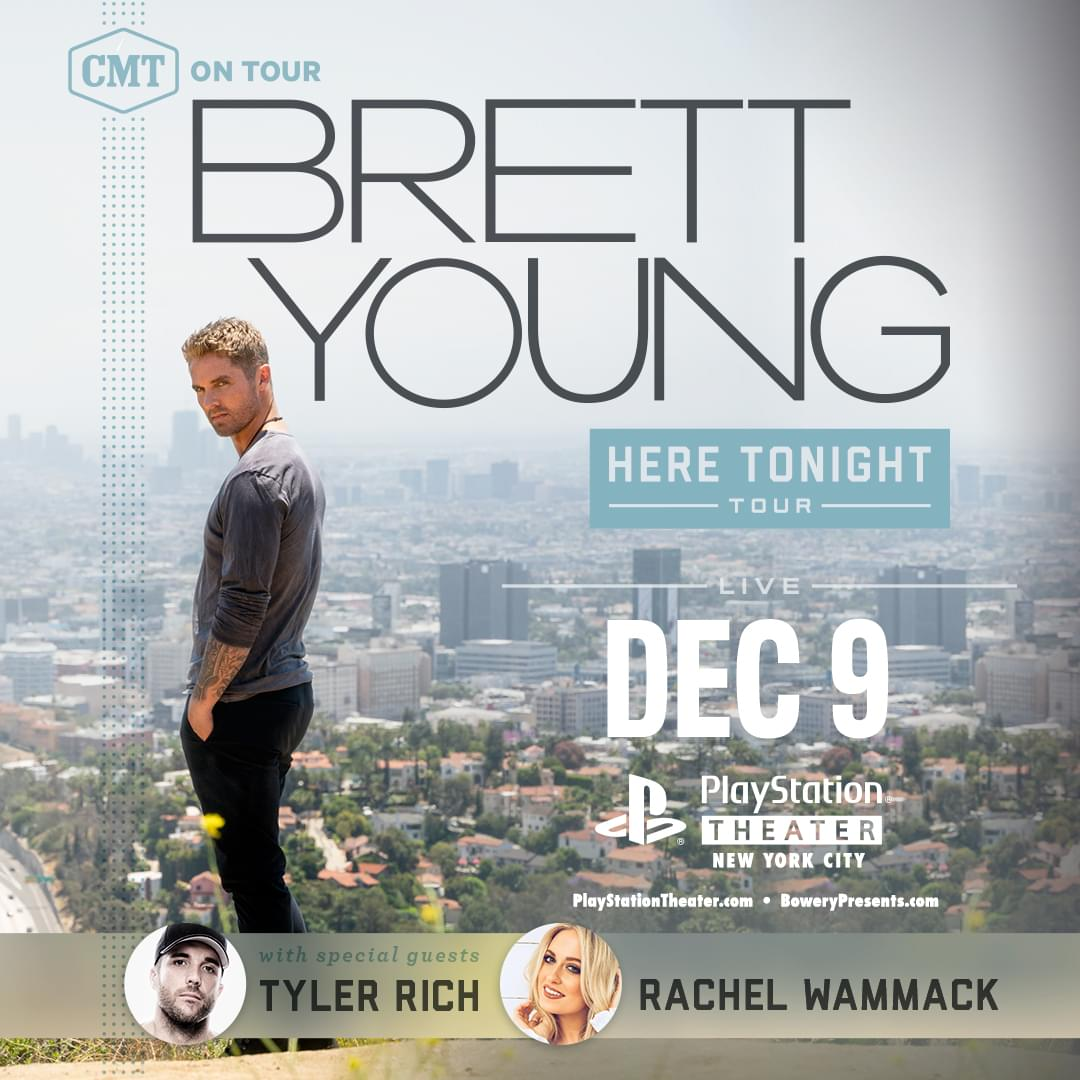 Win Tickets to See Brett Young Live at PlayStation Theatre!