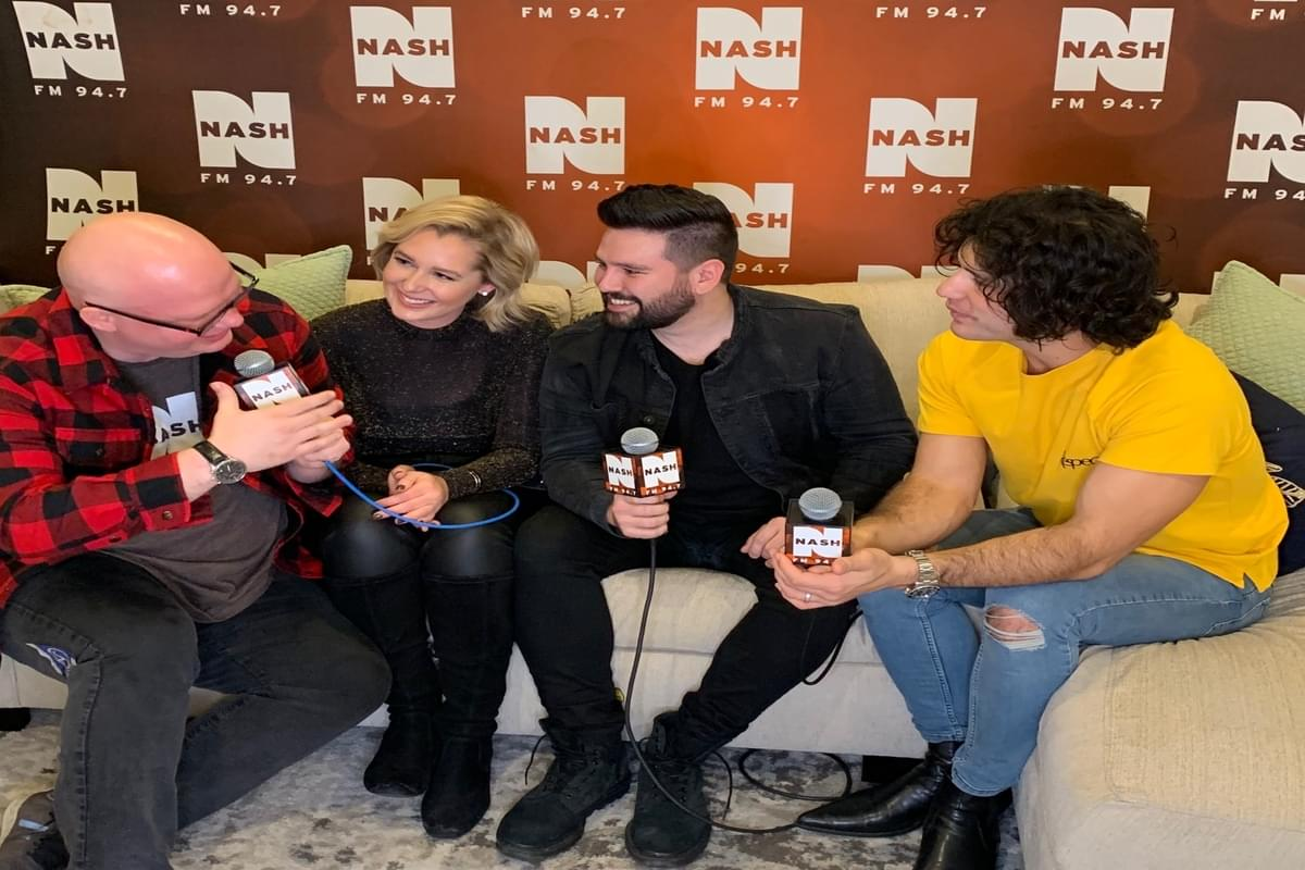 Dan + Shay backstage interview at NASH Holiday Bash