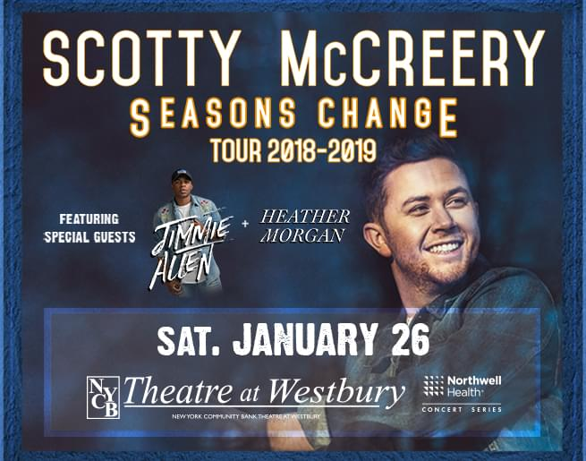 Win Tickets to See Scotty McCreery at NYCB Theatre at Westbury!
