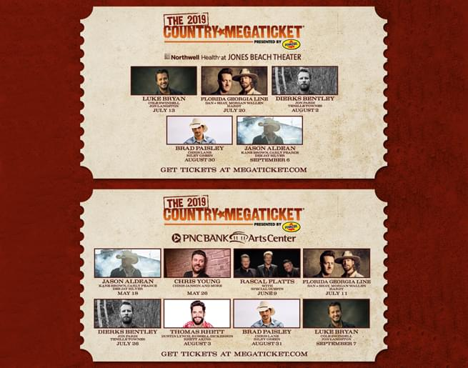 Win Tickets to the 2019 Country Megaticket!