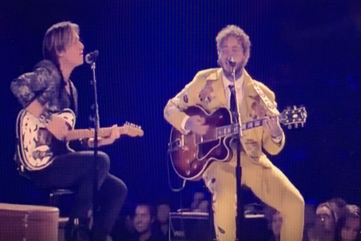 "Keith Urban & Post Malone Sing Elvis's ""Baby, What You Want Me To Do"""