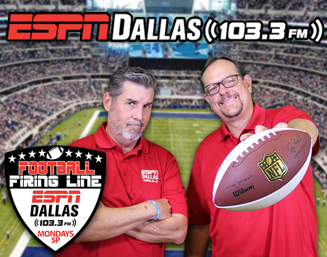 Football Firing Line is Back on 103.3 FM ESPN, Every Monday 5-7pm!