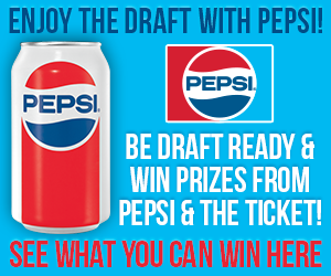 Be Draft ready & win prizes from Pepsi & The Ticket!