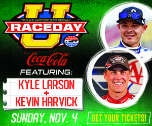 Join The Ticket, Norm, Donovan and the coolest P1s at Texas Motor Speedway on Sunday