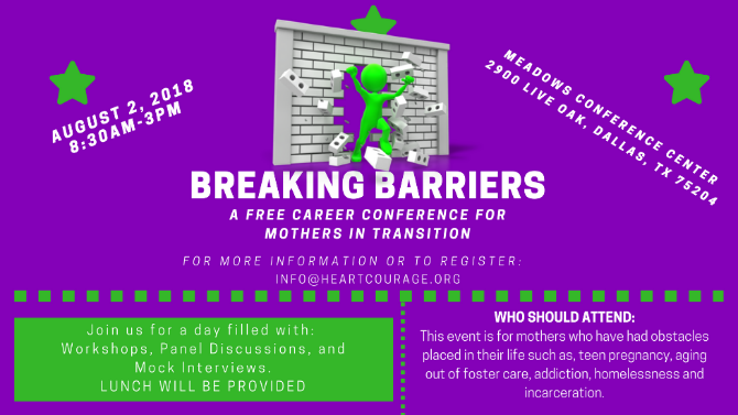 Attend The Breaking Barriers Career Conference- For Mothers In Transition