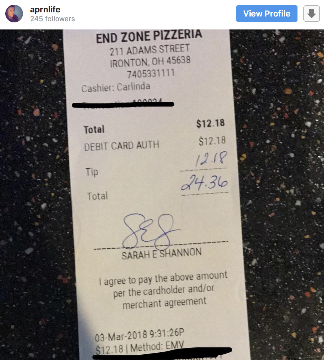 #TipTheBill Challenge Encourages Diners To Tip The Amount of the Bill