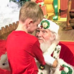 Blind Watauga boy 'sees' Santa for the first time